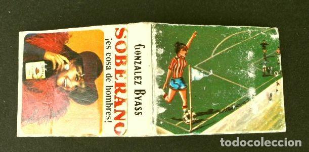CAJA DE CERILLAS - PUBLICIDAD - SOBERANO (AÑOS 70) (MODELO RARO Y ESCASO) EL FUTBOL Y SUS REGLAS (Coleccionismo - Objetos para Fumar - Cajas de Cerillas)