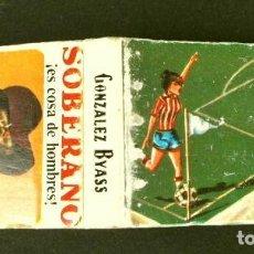 Cajas de Cerillas: CAJA DE CERILLAS - PUBLICIDAD - SOBERANO (AÑOS 70) (MODELO RARO Y ESCASO) EL FUTBOL Y SUS REGLAS. Lote 186438892
