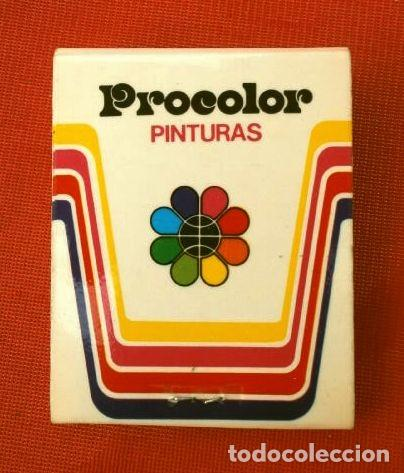 CAJA DE CERILLAS - PUBLICIDAD - PROCOLOR INDUSTRIAS QUÍMICAS (AÑOS 70) PINTURAS (MODELO ESCASO) (Coleccionismo - Objetos para Fumar - Cajas de Cerillas)