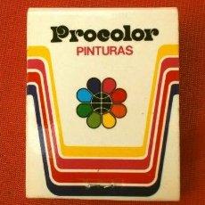 Cajas de Cerillas: CAJA DE CERILLAS - PUBLICIDAD - PROCOLOR INDUSTRIAS QUÍMICAS (AÑOS 70) PINTURAS (MODELO ESCASO). Lote 186440283