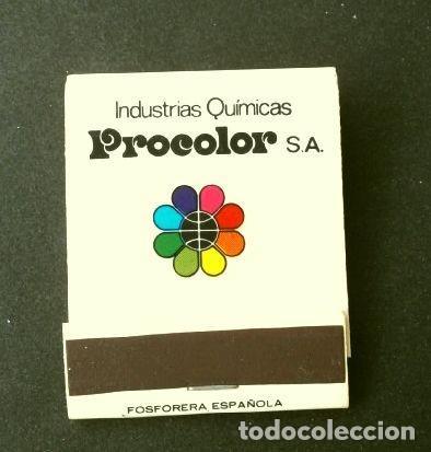 Cajas de Cerillas: Caja de cerillas - Publicidad - PROCOLOR Industrias Químicas (Años 70) PINTURAS (modelo escaso) - Foto 2 - 186440283
