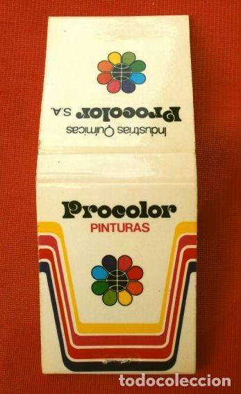 Cajas de Cerillas: Caja de cerillas - Publicidad - PROCOLOR Industrias Químicas (Años 70) PINTURAS (modelo escaso) - Foto 3 - 186440283