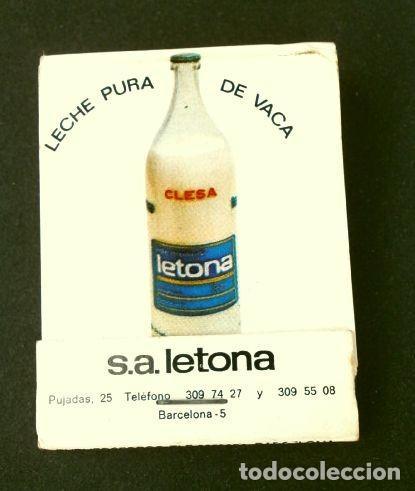 Cajas de Cerillas: Caja de cerillas - Publicidad - LETONA - CLESA (Años 70) Leche Letona - Yogures Clesa - Foto 2 - 186440995