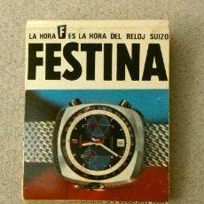 Cajas de Cerillas: CAJA DE CERILLAS - PUBLICIDAD - FESTINA (AÑOS 70) RELOJES SUIZOS. Lote 186441677