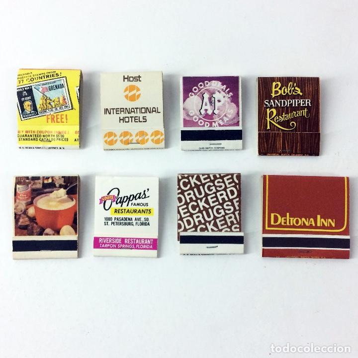 LOTE 8 CAJAS DE CERILLAS ANTIGUAS AMERICANAS (Coleccionismo - Objetos para Fumar - Cajas de Cerillas)
