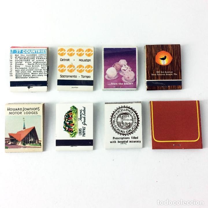 Cajas de Cerillas: LOTE 8 CAJAS DE CERILLAS ANTIGUAS AMERICANAS - Foto 2 - 187227521