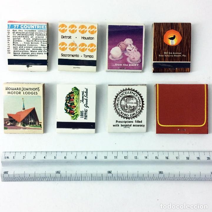 Cajas de Cerillas: LOTE 8 CAJAS DE CERILLAS ANTIGUAS AMERICANAS - Foto 3 - 187227521