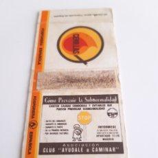 Cajas de Cerillas: CARTERITA CERILLAS - COMO PREVENIR LA SUBNORMALIDAD - CLUB AYUDALE A CAMINAR ( MADRID ). Lote 188712696