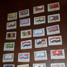 Cajas de Cerillas: LOTE 27 CROMOS CAJAS CERILLAS BANDERAS FINALES 50. Lote 189421007