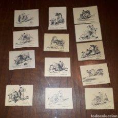 Cajas de Cerillas: LOTE 13 CROMOS CAJAS CERILLAS TOROS FINALES 50. Lote 189421930