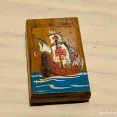 Cajas de Cerillas: ANTIGUA CAJA DE CERILLAS DE MADERA. Lote 190914070