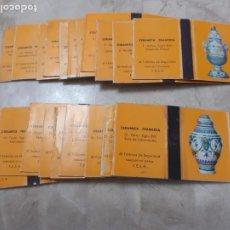 Cajas de Cerillas: 3 COLECCIONES DE CAJAS DE CERILLAS CERAMICA FRANCESA COMPLETAS. Lote 191266906