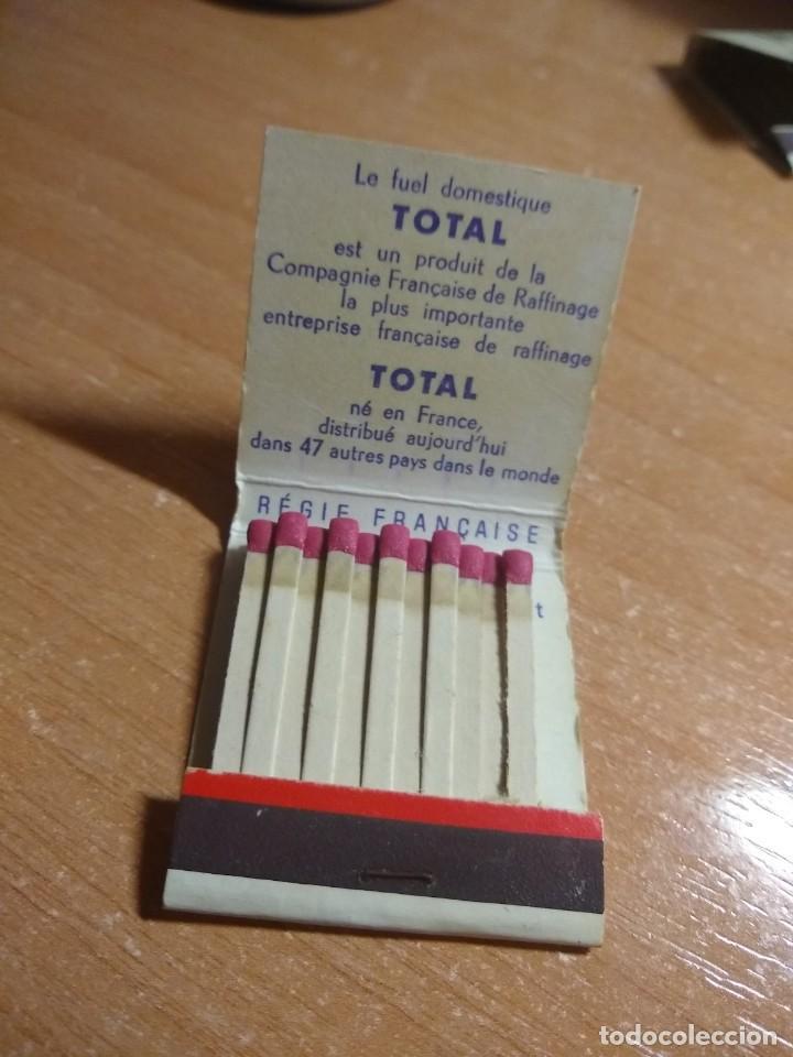 Cajas de Cerillas: CAJA DE CERILLAS PUBLICIDAD FUEL TOTAL (FRANCIA) - Foto 4 - 191306235