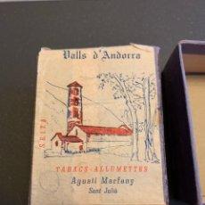 Cajas de Cerillas: VALLS D'ANDORRA. AGUSTÍ MARFANY. CAJA GRANDE CERILLAS ( 7,5 X 6 CM ). Lote 191333345