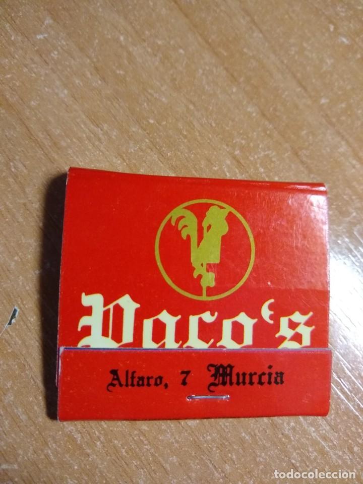 CAJA DE CERILLAS ANTIGUA - RESTAURANTE PACO`S (MURCIA) (Coleccionismo - Objetos para Fumar - Cajas de Cerillas)