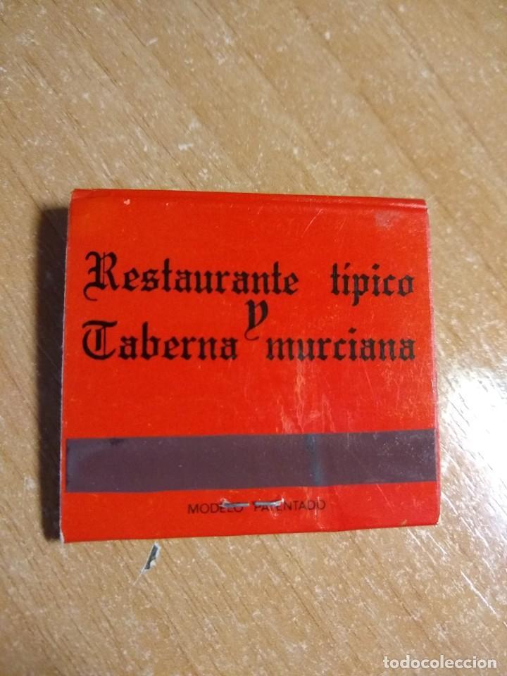 Cajas de Cerillas: CAJA DE CERILLAS ANTIGUA - RESTAURANTE PACO`S (MURCIA) - Foto 3 - 191371882
