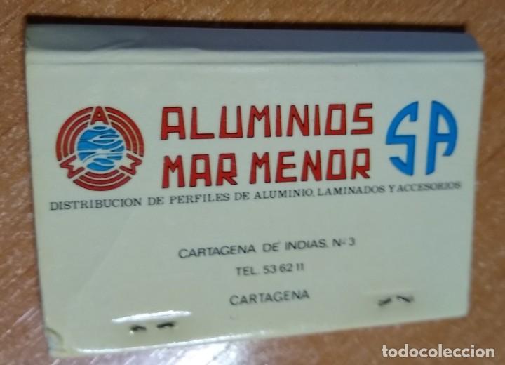 CAJA DE CERILLAS ANTIGUA - ALUMINIOS MAR MENOR (MURCIA) (Coleccionismo - Objetos para Fumar - Cajas de Cerillas)