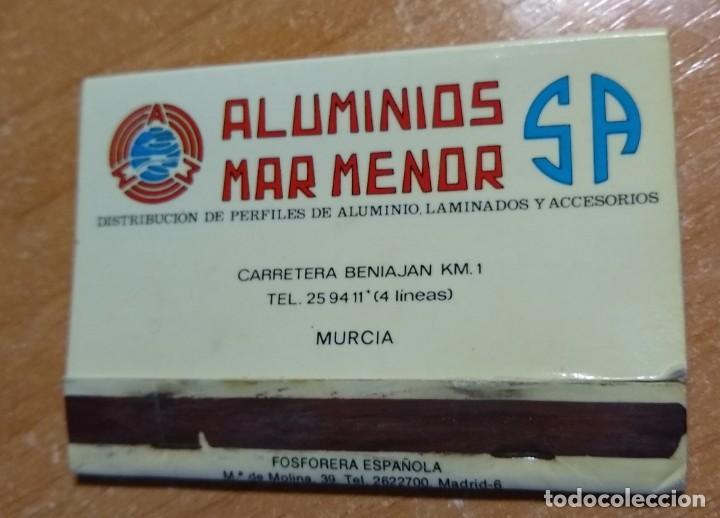 Cajas de Cerillas: CAJA DE CERILLAS ANTIGUA - ALUMINIOS MAR MENOR (MURCIA) - Foto 3 - 191372303