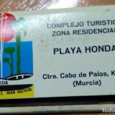 Cajas de Cerillas: CAJA DE CERILLAS ANTIGUA -PLAYA HONDA (MAR MENOR) . Lote 191375255