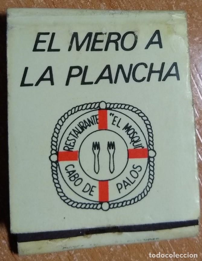 CAJA DE CERILLAS ANTIGUA -RESTAURANTE EL MOSQUI (CABO DE PALOS) (Coleccionismo - Objetos para Fumar - Cajas de Cerillas)