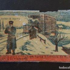 Cajas de Cerillas: GUERRA DE ORIENTE ENVUELTA CROMO CAJA DE CERILLAS SIGLO XIX TABACO. Lote 191601921