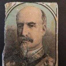 Cajas de Cerillas: ECHEVARRIA POLITICO ENVUELTA CROMO CAJA DE CERILLAS SIGLO XIX TABACO. Lote 191602078