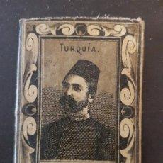 Cajas de Cerillas: TURQUIA GENERAL ENVUELTA CROMO CAJA DE CERILLAS SIGLO XIX TABACO. Lote 191602163