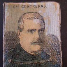 Cajas de Cerillas: GENERAL CONTRERAS GUERRAS CARLISTAS ENVUELTA CROMO CAJA DE CERILLAS SIGLO XIX TABACO. Lote 191602245