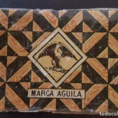 Cajas de Cerillas: AGUILA ENVUELTA CROMO CAJA DE CERILLAS SIGLO XIX TABACO. Lote 191602457