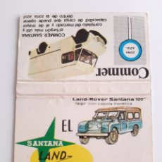 Cajas de Cerillas: CARTERITA CERILLAS - LAND ROVER SANTANA 109 - COMMER SANTANA. Lote 191652392