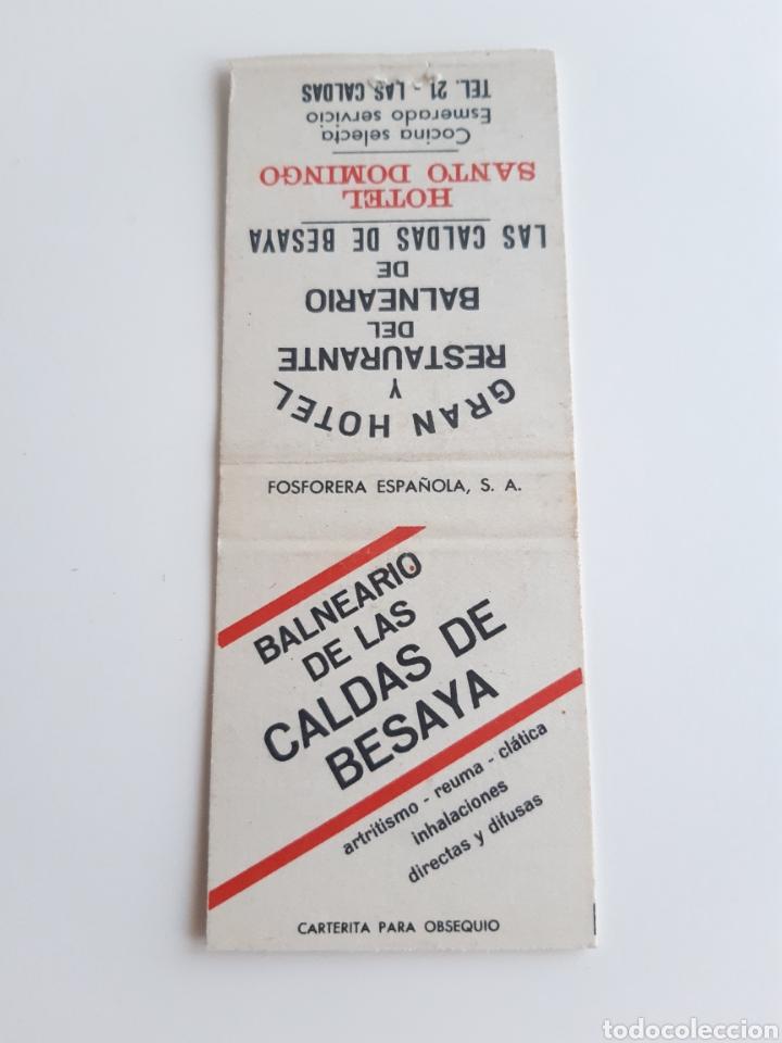 CARTERITA CERILLAS - BALNEARIO CALDAS DE BESAYA - HOTEL SANTO DOMINGO ( LAS CALDAS - SANTANDER ) (Coleccionismo - Objetos para Fumar - Cajas de Cerillas)
