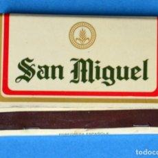 Cajas de Cerillas: CAJA DE CERILLAS DE PUBLICIDAD: CERVEZA SAN MIGUEL. Lote 192239413