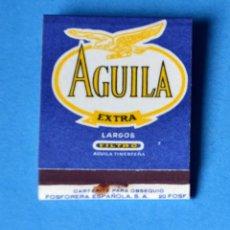 Cajas de Cerillas: CAJA DE CERILLAS DE PUBLICIDAD . TABACO AGUILA EXTRA. Lote 192239598