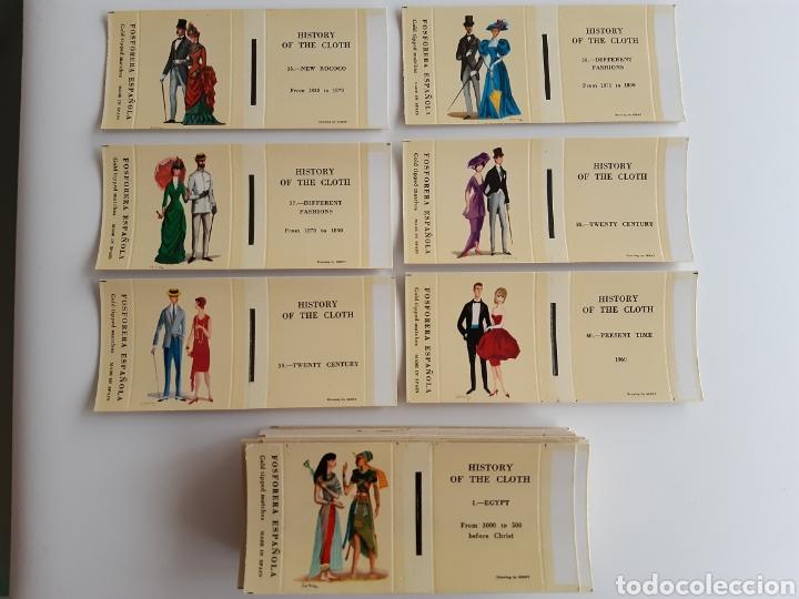 Cajas de Cerillas: COLECCIÓN 40 CARTERITAS CERILLAS - HISTORIA DEL VESTIDO - HISTORY OF THE CLOTH - Foto 3 - 192359382