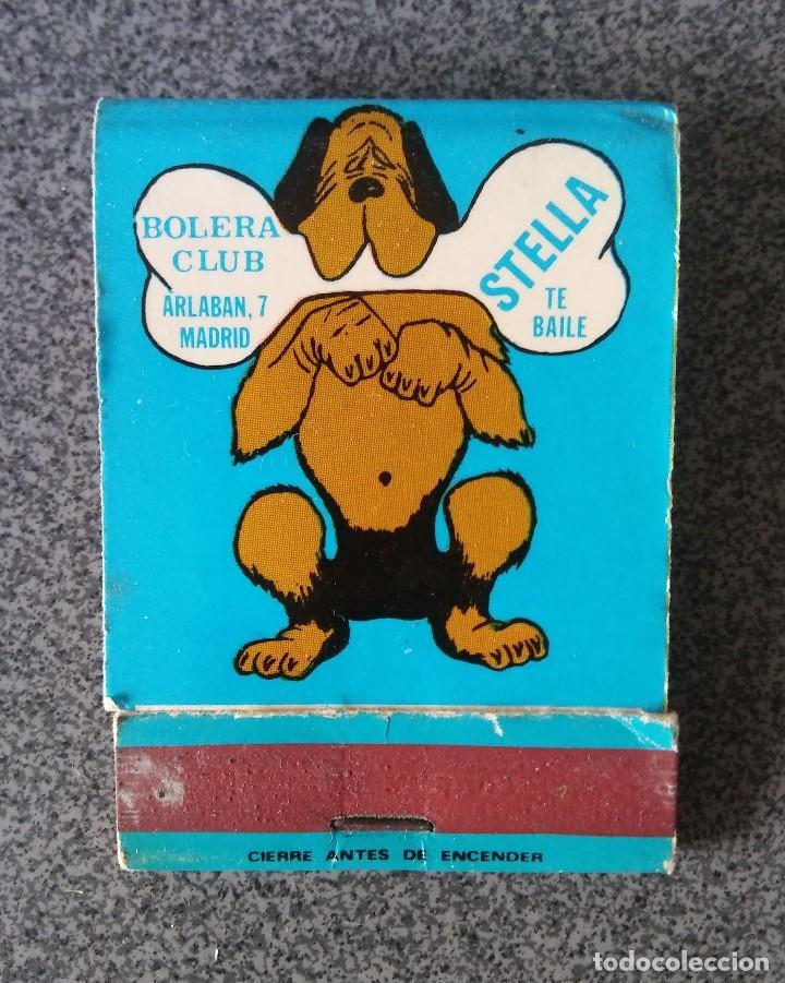 CAJA CERILLAS DISCOTECA BOLERA STELLA (Coleccionismo - Objetos para Fumar - Cajas de Cerillas)