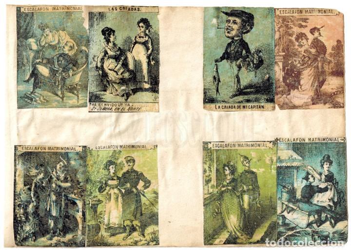 Cajas de Cerillas: LÁMINA CAJAS DE CERILLAS COSTUMBRES / PERSONAJES / REFRANES / HUMOR SIGLO XIX - Foto 2 - 193026405