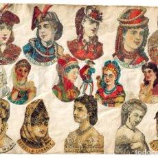 Cajas de Cerillas: LÁMINA CAJAS DE CERILLAS COSTUMBRES / PERSONAJES / REFRANES / HUMOR SIGLO XIX. Lote 193027998