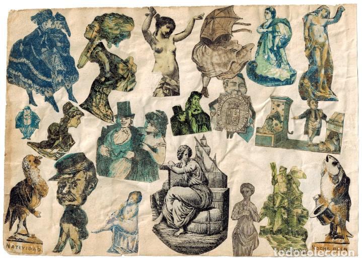 Cajas de Cerillas: LÁMINA CAJAS DE CERILLAS COSTUMBRES / PERSONAJES / REFRANES / HUMOR SIGLO XIX - Foto 2 - 193027998