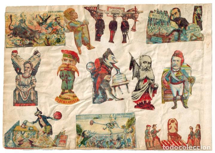 Cajas de Cerillas: LÁMINA CAJAS DE CERILLAS COSTUMBRES / PERSONAJES / REFRANES / HUMOR SIGLO XIX - Foto 2 - 193030341
