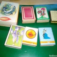 Cajas de Cerillas: LOTE DE 7 CAJAS DE CERILLAS ANTIGUAS ESPAÑOLAS. Lote 194192415