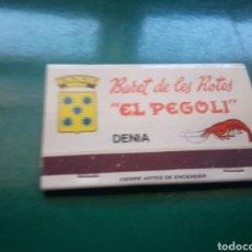Cajas de Cerillas: ANTIGUA CAJA DE CERILLAS BARET DE LES ROTES. DÉNIA ( ALICANTE). Lote 194194120