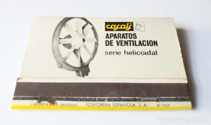CASALS APARATOS DE VENTILACION (Coleccionismo - Objetos para Fumar - Cajas de Cerillas)