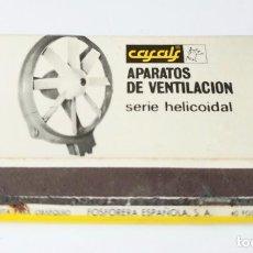 Cajas de Cerillas: CASALS APARATOS DE VENTILACION. Lote 194228053