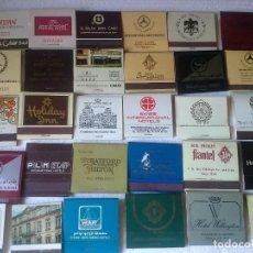 Cajas de Cerillas: LOTE DE 30 CAJAS DE CERILLAS DE HOTELES EXTRANJEROS , COMPLETAS . VER FOTOS. Lote 194246676