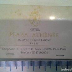 Cajas de Cerillas: CAJA DE CERILLAS HOTEL PLAZA ATHENEE NEW YORK Y PARIS. COMPLETA. Lote 194251696