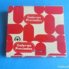 Cajas de Cerillas: GALERIAS PRECIADOS,ANTIGUA CAJA DE CERILLAS CON EL SIMBOLO DE RUMASA. Lote 194291876