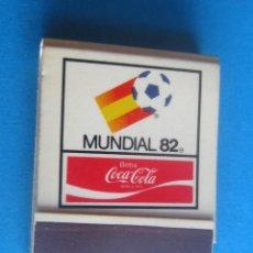 Cajas de Cerillas: COCA COLA,MUNDIAL 82, ANTIGUA CAJA CERILLAS,EN PERFECTO ESTADO. Lote 194316568
