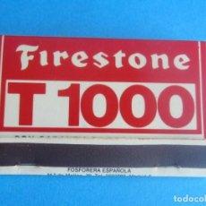 Cajas de Cerillas: FIRESTONE T 1000, ANTIGUA CAJA CERILLAS,EN PERFECTO ESTADO. Lote 194317108