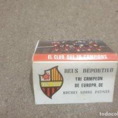 Cajas de Cerillas: CERILLAS.....CERILLAS REUS DEPORTIVO...TRICAMPEON DE EUROPA... Lote 194565957