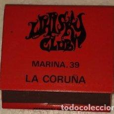 Cajas de Cerillas: CAJA DE CERILLAS COMPLETA WHISKY CLUB LA CORUÑA. Lote 194587280